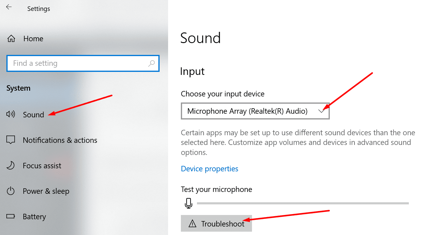windows 10 sound settings