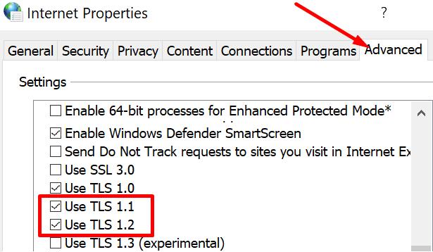 TLS internet properties
