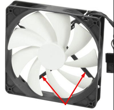 computer fan exhaust side