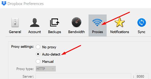 dropbox-proxy-settings