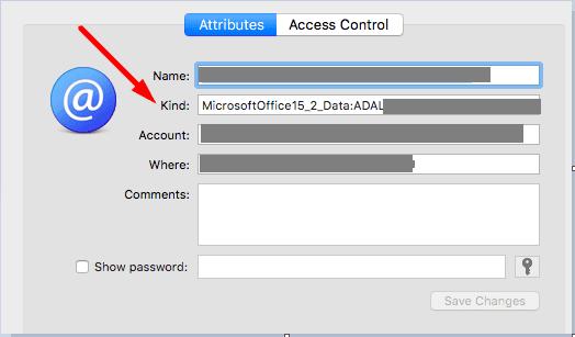 keychain access microsoft office