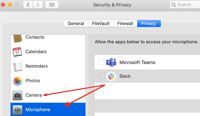 mac privacy settings