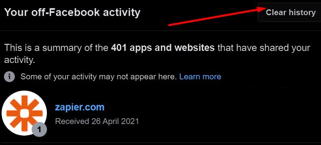 off-facebook activity details
