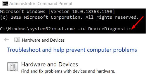 run-hardware-troubleshooter-windows-10