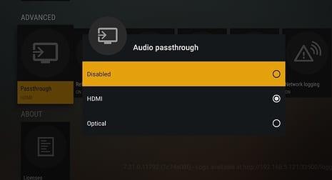 Audio-passthrough-plex-settings