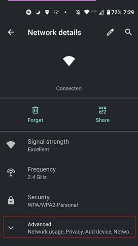 Settings Android WiFi
