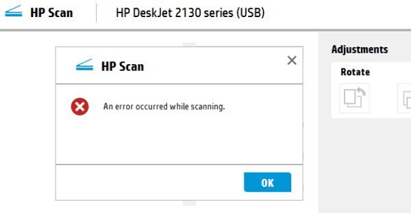 Fix: An Error Occurred While Scanning on HP Devices