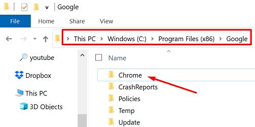 chrome-program-files