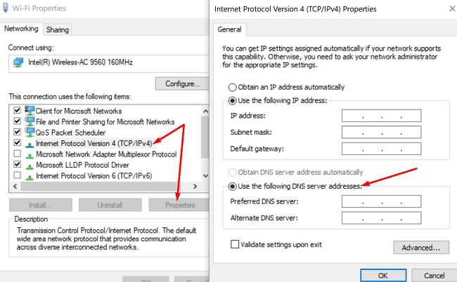 dns-settings-windows-10