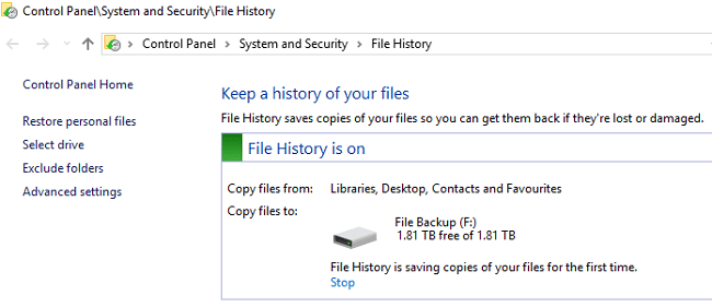 file-history-is-backing-up-data