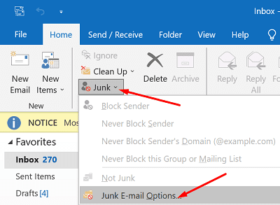 outlook-junk-email-options