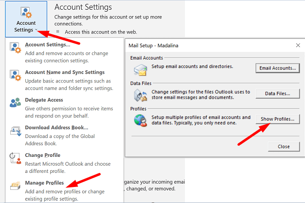 outlook-manage-profiles