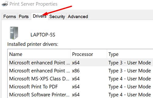 print-server-properties