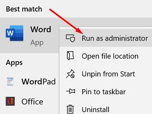 run-office-as-admin