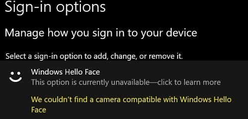 we-couldnt-find-a-camera-compatible-with-windows-hello-face-error