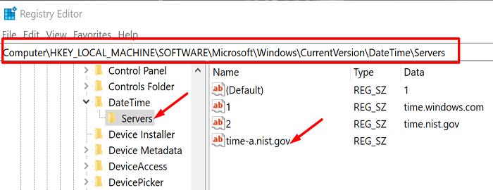 add-new-time-server-registry-editor
