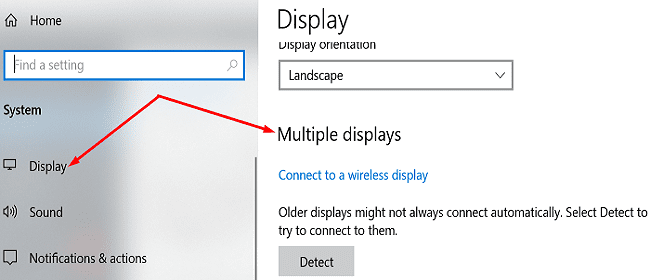 check-windows-10-multiple-display-support