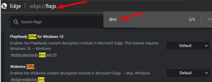 drm settings edge browser