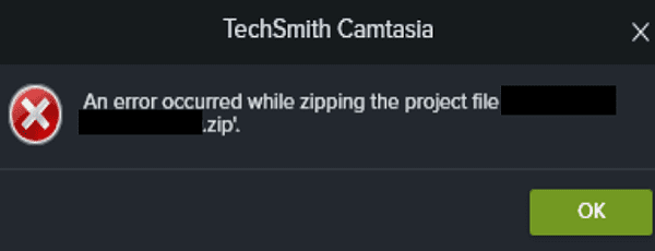 error-occurred-while-zipping-project-file-camtasia
