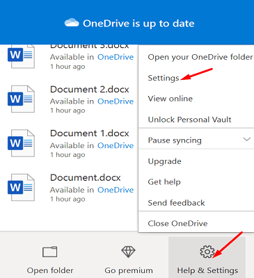 onedrive-help-and-settings