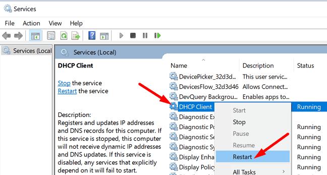 restart-DHCP-client