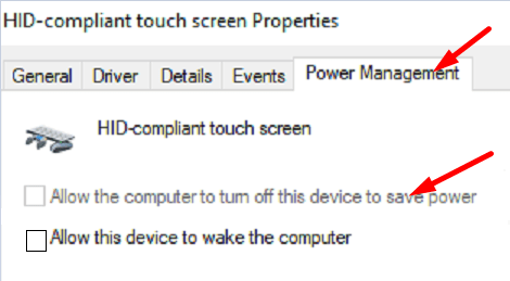 HID-compliant-touch-screen-power-settings