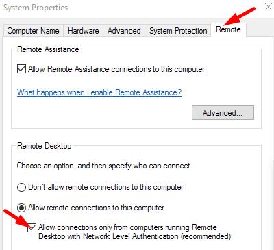 Remote-Desktop-Network-Level-Authentication-settings
