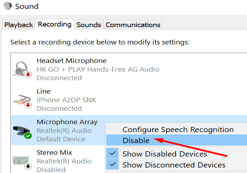 disable-microphone-windows-10