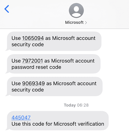 unsolicited-microsoft-verification-code-text-message