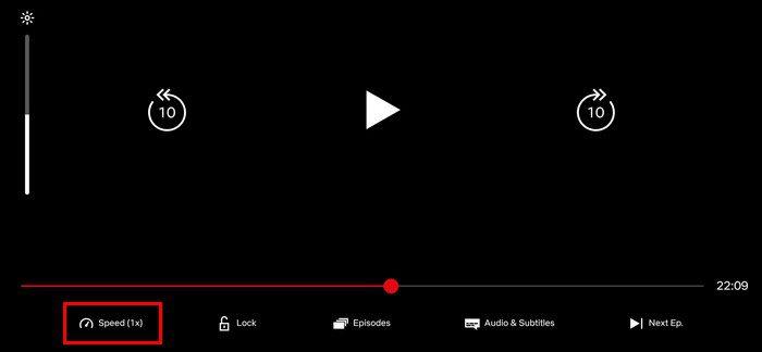 Adjust Netflix video speed