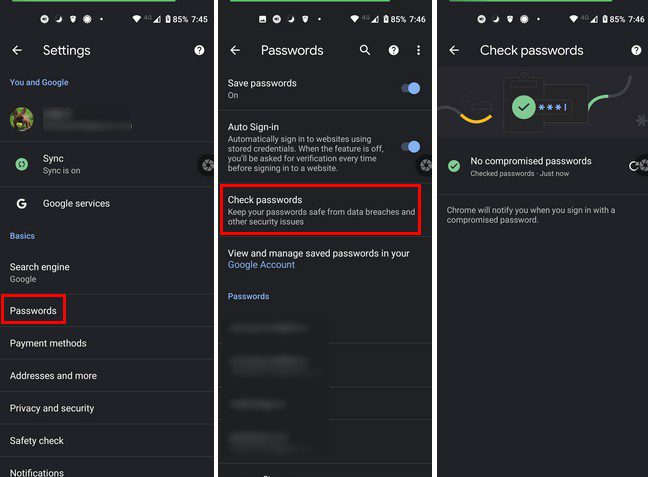 Android check password strength