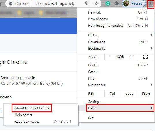 Chrome Update Settings