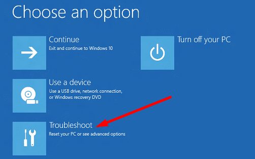 Windows-Recovery-Environment-Troubleshoot