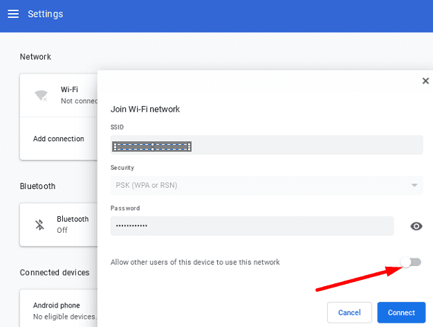 allow-other-users-to-use-this-connection-chromebook
