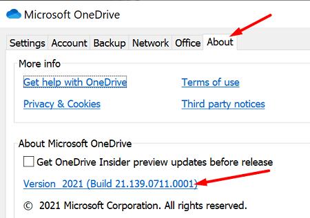 check-onedrive-app-version