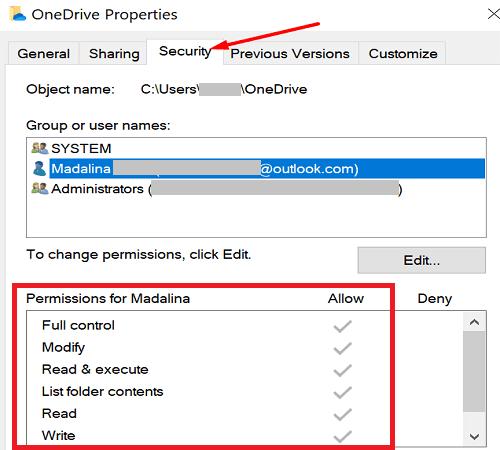 onedrive-folder-security-settings