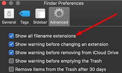 show-all-filename-extensions-mac
