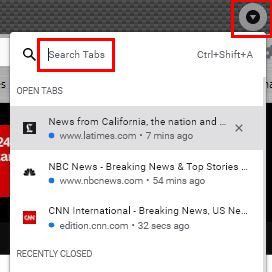 Search Chrome tabs