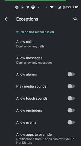 Exceptions do not disturb Android