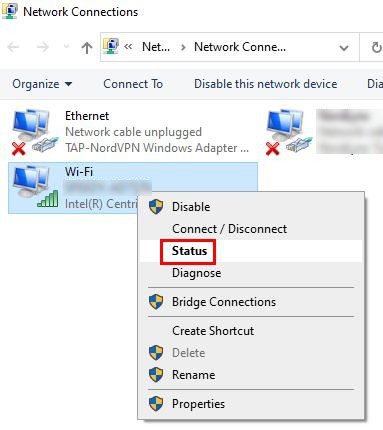 Find wifi password windows 10