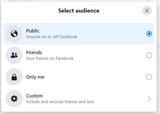 Edit privacy of Facebook likes