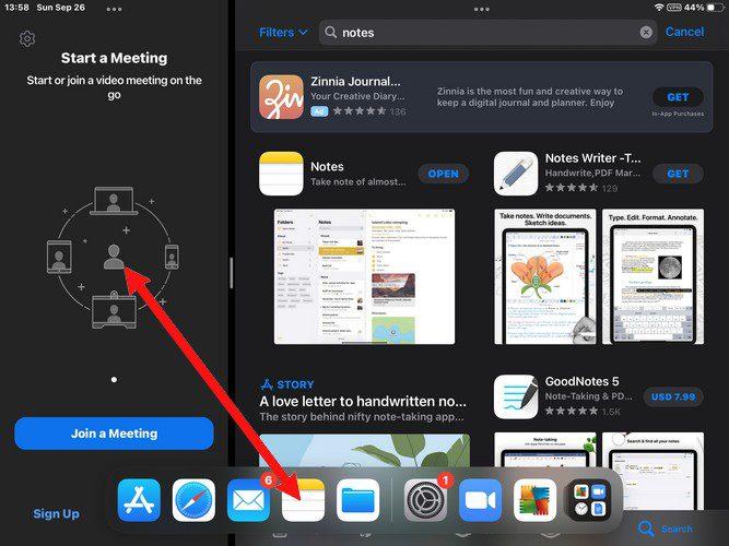 Replace app split screen mode iPadOS 15