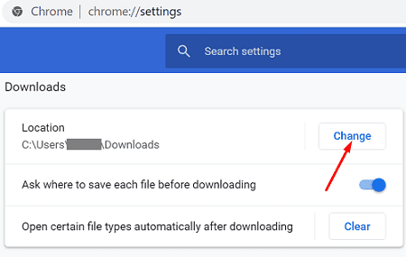 chrome-change-download-location