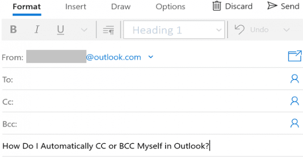 Automatically-CC-or-BCC-Myself-Outlook