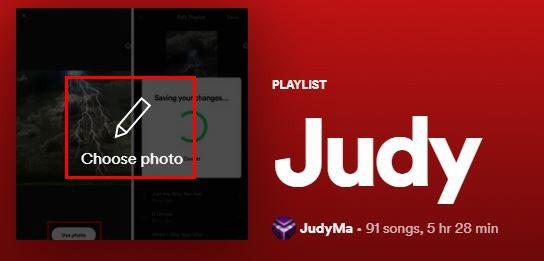 Change playlist picture Spotify