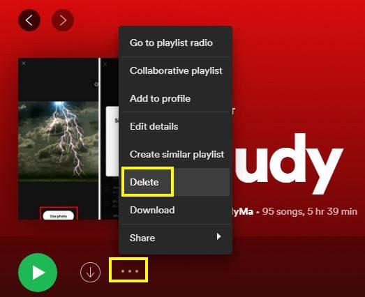 Spotify Playlist Erase