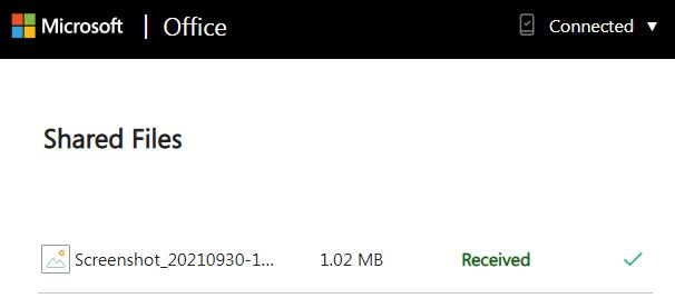 Microsoft Office Received Files